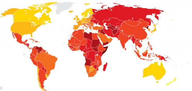Corruption Perceptions Index 2014 Transparency International (c) Screenshot